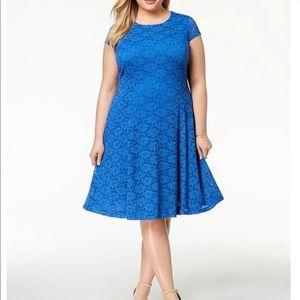 Alfani Plus Size Blue Lace Dress Size 22W